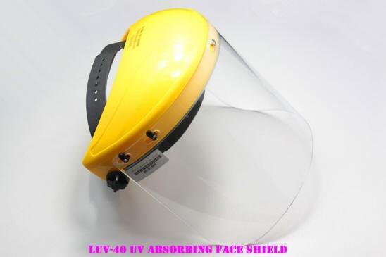 LUV-40 UV absorbing face shield